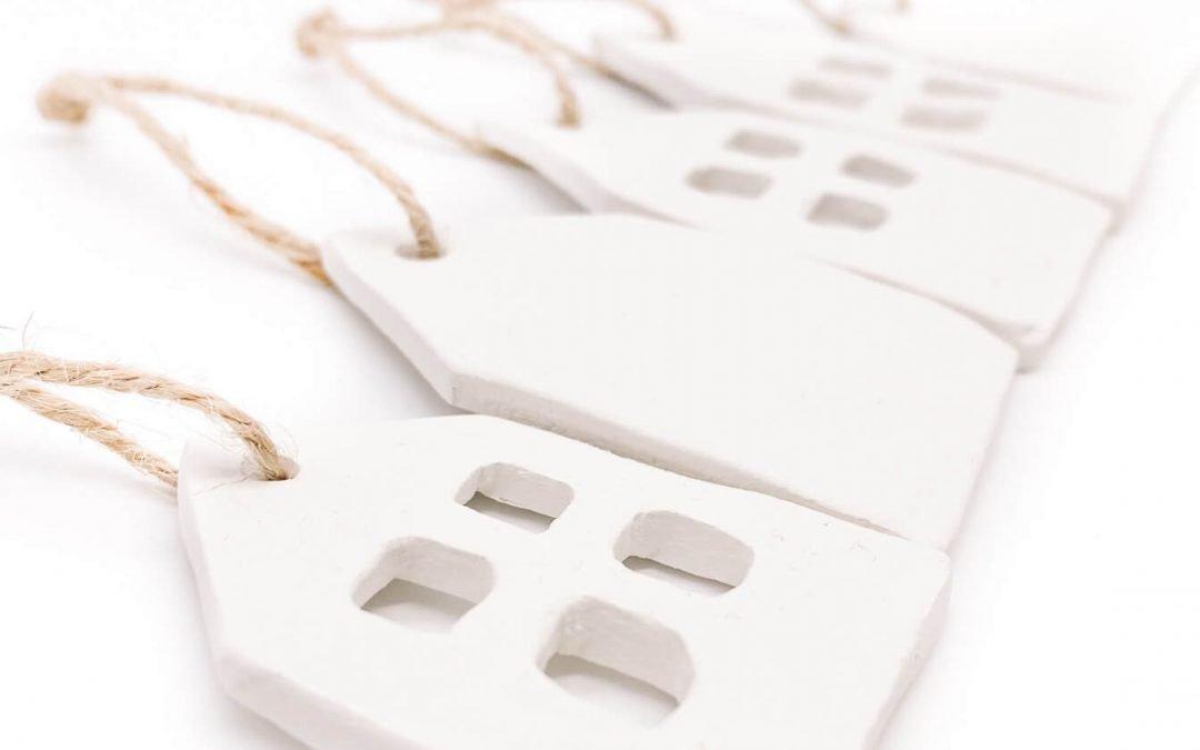 Freebie – Häuschen aus Modelliermasse basteln