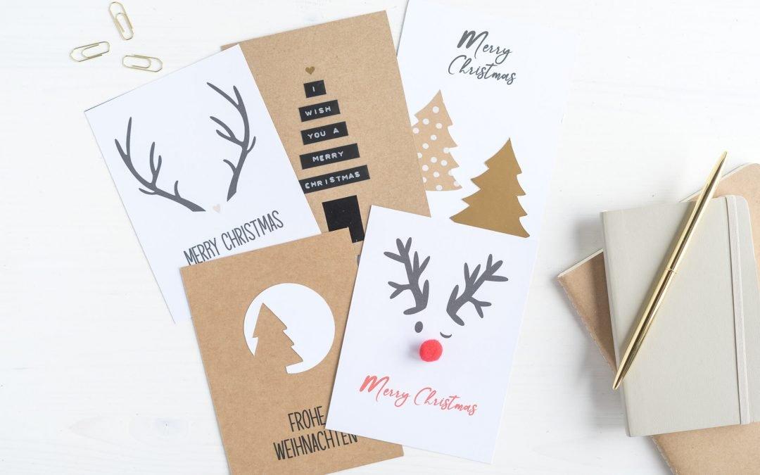 Weihnachtskarten basteln – Last Minute Ideen