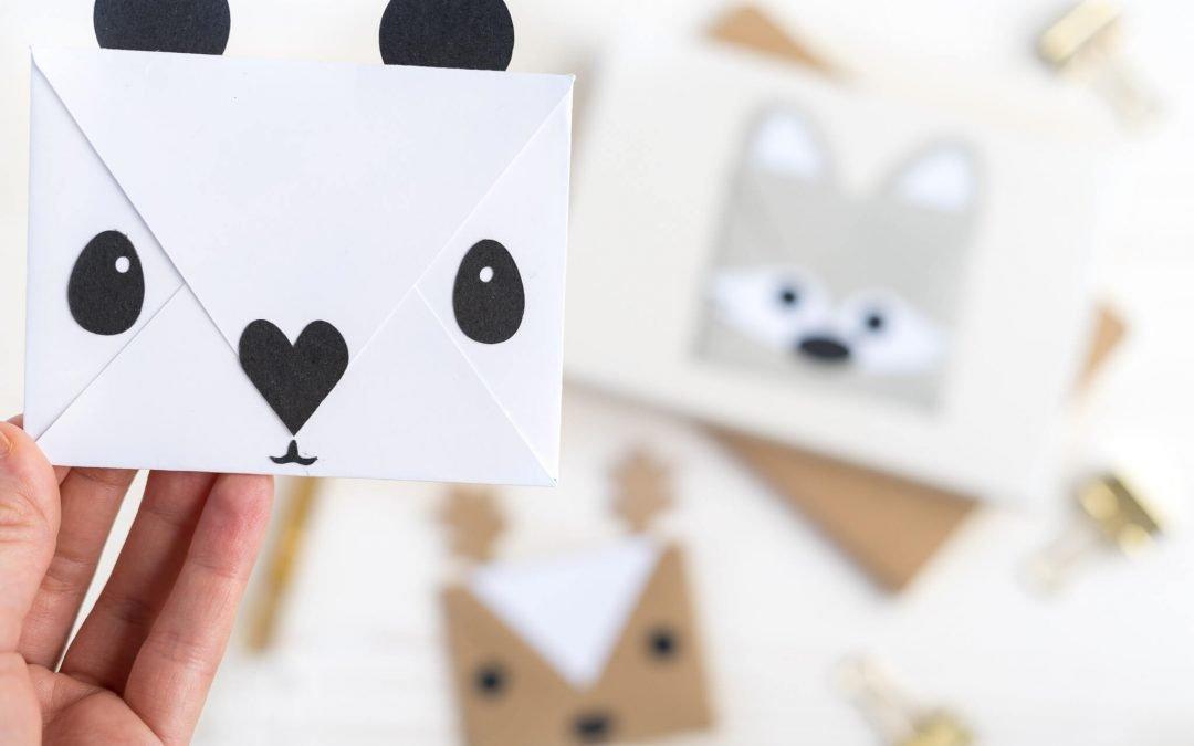 Briefumschlag basteln – Kuverts im Animalstyle