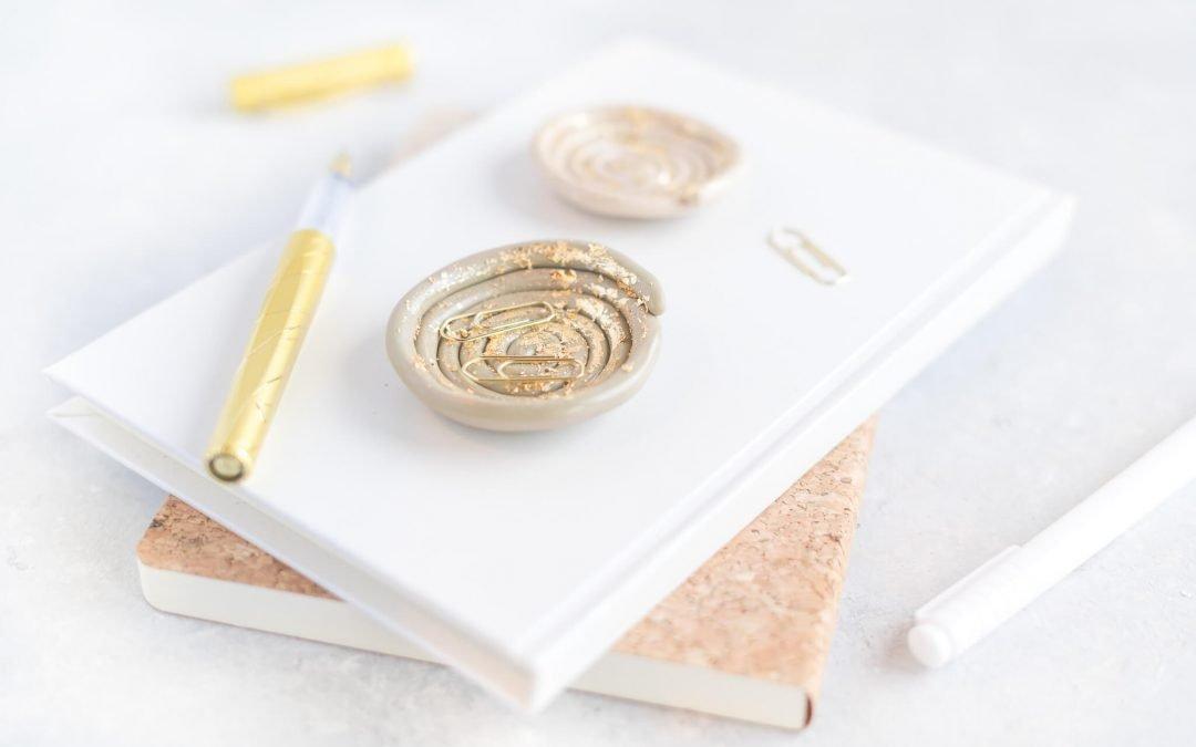 Fimo Schale mit Blattgold selber basteln