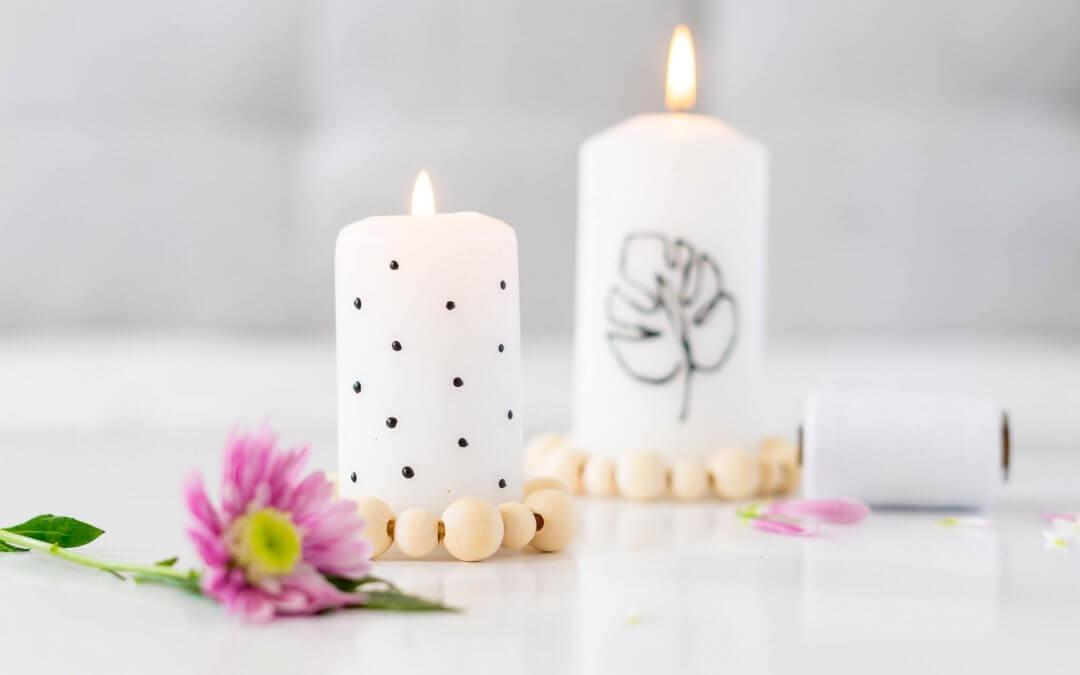 Kerze bemalen – Individuell mit Lineart