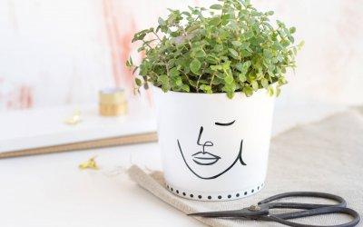 Blumentopf mit Lineart aufpeppen