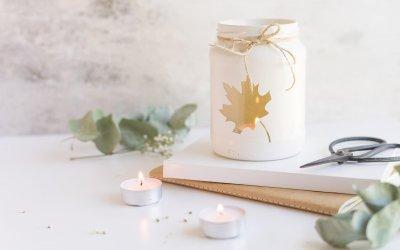 5 herbstliche Teelichter – Bastelideen